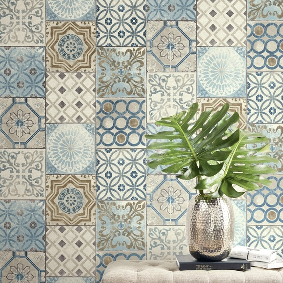 Wall Art Peel Stick Removable Moroccan Tile Wallpaper Poshmark